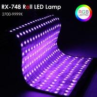FalconEyes светодио дный RX 748 RGB Фото Гибкая Roll светодио дный лампы 2700 К ~ 9999 К свет Водонепроницаемый непрерывной для фото видео осветления Studio