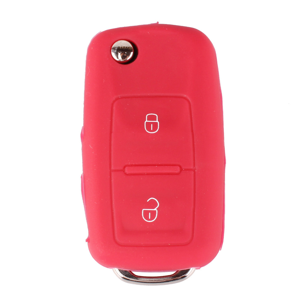 New Silicone 2 Buttons Car Flip Key Cover Case Shell For VW Passat Polo Golf Touran Bora Jetta Cady Touran Sharan Transporter