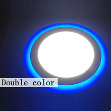 Cheap Round 3 Model LED Panel Downlight 6W 9W 16W 24W LED Lamp Panel Light Double Color LED Ceiling Recessed Luminaire Free Ship