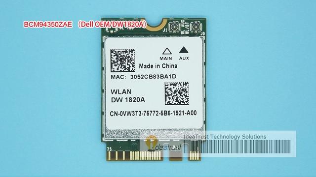 BCM94350ZAE DW1820A 802.11ac VW3T3 BCM94350 M2 NGFF BT4.1 867 Mbps WiFi Placa de Rede Sem Fio melhor do que BCM94352Z DW1820