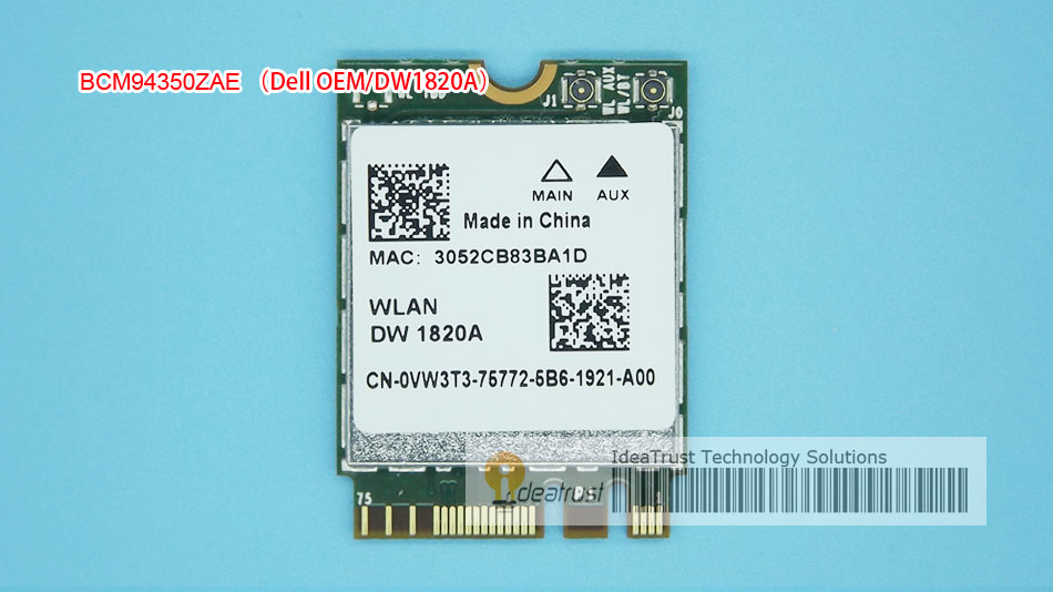 BCM94350ZAE DW1820A 802.11ac VW3T3 BT4.1 867Mbps BCM94350  M2  NGFF WiFi Wireless Network Card Better Than BCM94352Z DW1820