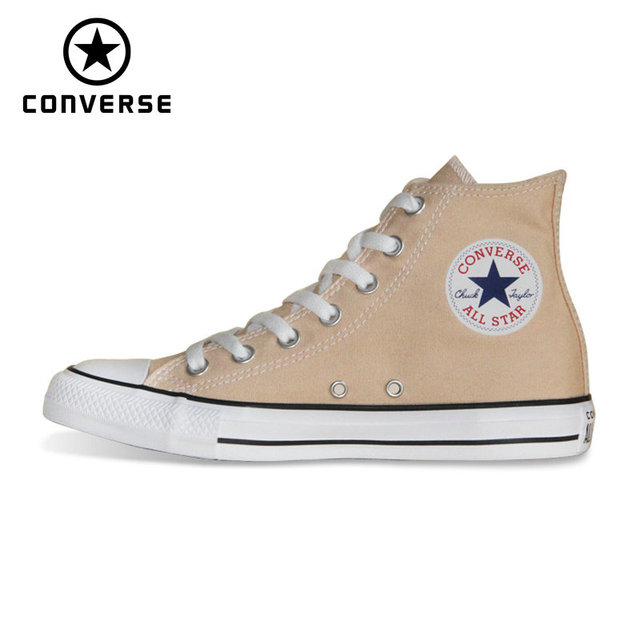 US $55.12 35% OFF|2018 NEW CONVERSE Chuck Taylor All Star shoes beige color  Original men's and women's high sneakers Skateboarding Shoes -in ...
