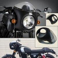 1pc High Quality Retro Cafe Racer Fairing Universal Fit 7 Headlight Handlebar Fairing Screen For Covers