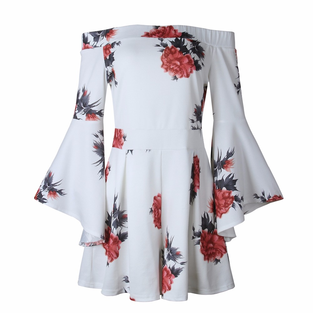 New Arrival Spring 2018 Female Collarless Knitted Playsuits Fashion Flare Sleeve Women Floral Print Mid Waist Loose Short Pants