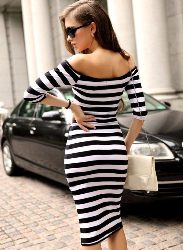 Sexy striped dress