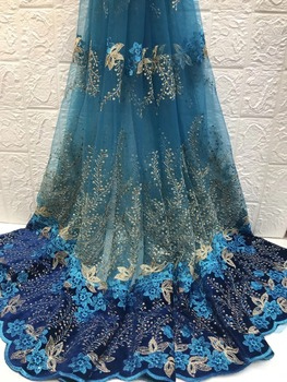Hot sale African French velvet lace fabric, high quality Nigerian lace velvet lace fabric