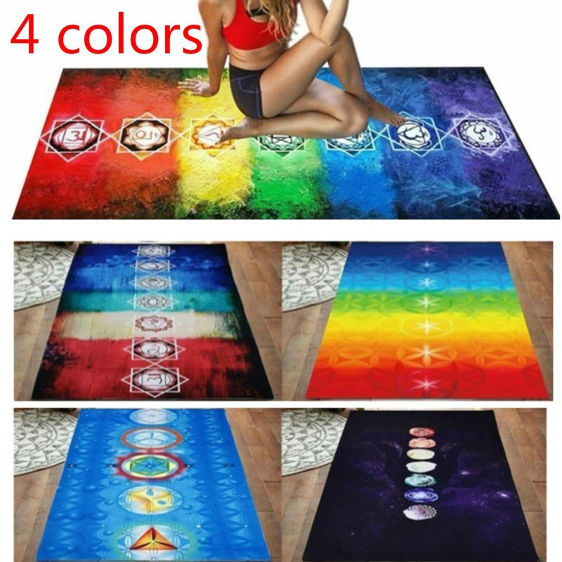 Hot Selling Tapestry Yoga Mat Scarf Shawl Colorful Polyester Tassel 150x75cm Breathable For Beach