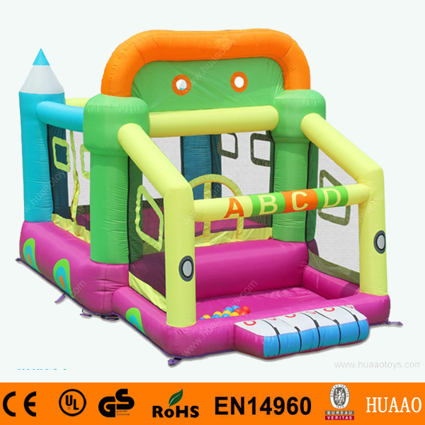 ABC Car Mini Bouncer Castle Inflatable Combo with Pool and Free CE blower