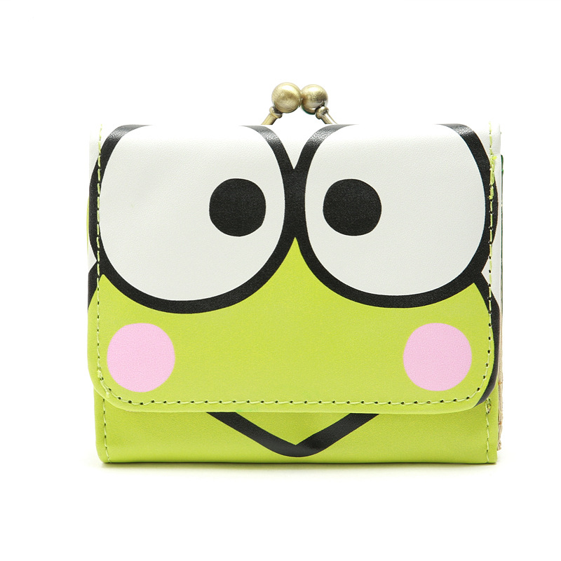 Wallets Purse Snap-Button Frog Small Girl Cartoon Children Cute Bags New for Kid Fit