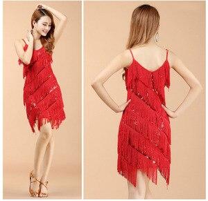 Image 3 - Di alta qualità sexy della nappa di ballo latino del vestito frangia costumi di ballo latino per le donne in vendita