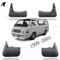 4PCS/SET Splash Guard Mud Flaps for Toyota Hiace H100 Series 1998-2004 Mud Flaps Front &Rear