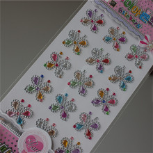 Rhinestones Stickers fullcolor Butterfly Rhinestone Crystal Phone Personalized Stickers Scrapbook toy sticker for Holiday gifts