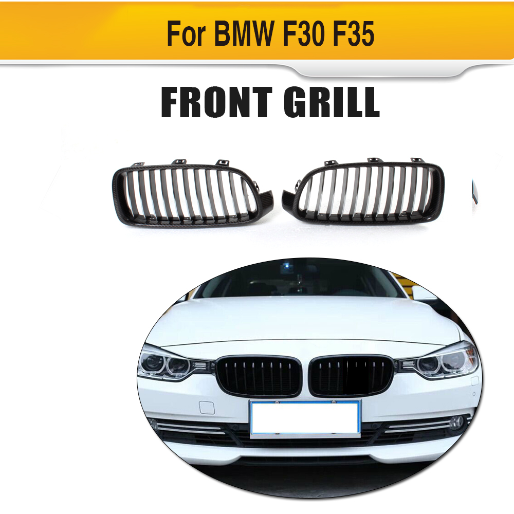 3 Series Carbon Fiber front Grills Racing grill for BMW F30 F31 Standard Sport 12-16 320i 325i 328i 330i 335i 340i Non M3 Style 3 series carbon front bumper racing grill grills for bmw f30 f31 standard sport 12 16 320i 325i 330i 340i non m3 style car cover