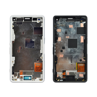 10pcs For Sony Xperia Z3 Mini LCD With Frame D5803 D5833 Display 4 6 Inch White