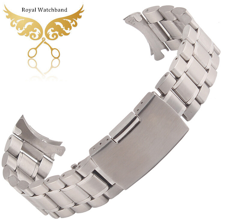 Promotion!Stainless Steel Solid Links Watch Band Strap Bracelet Curved End 18mm 20mm 22mm  24mm  Free Shipping карандаш для губ limoni lip pencil 27 цвет 27 variant hex name da9689