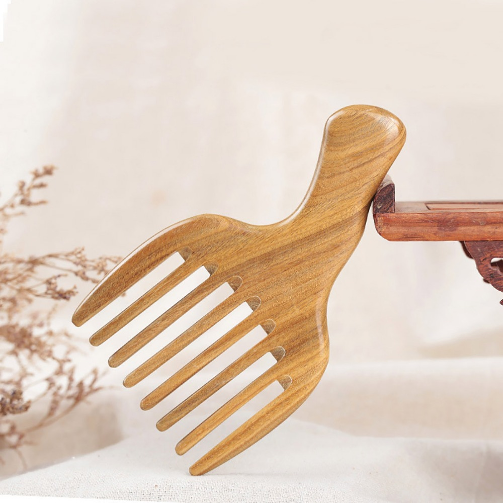 PRETTYSEE Comb Hair Straightener Wide Tooth Comb Wood Massaging Shampoo Brush Hair Extension Anti-Static Wooden Hair Pick c62 anti static peach wood comb sandalwood wide tooth comb hair comb