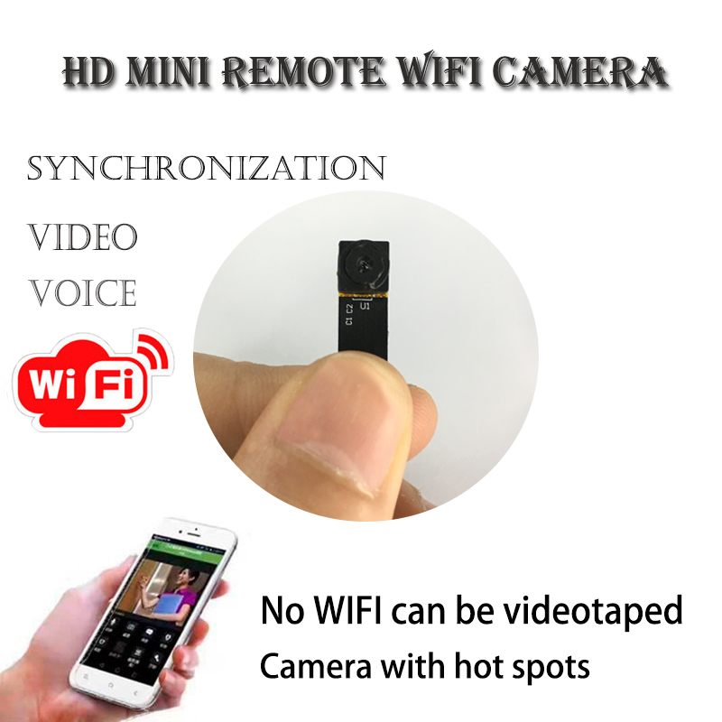 Remote monitoring HD Mini P2P Wifi Camcorder Support Phone View Wireless Module Ultra-small Cameras With microphone esp 07 esp8266 uart serial to wifi wireless module