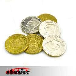 50 Cent Half Dollar Ein Satz Verkauft Einschließlich 4 Verschiedene Arten von 50 Halb Dollar Magie Münze Magie Requisiten Magie tricks
