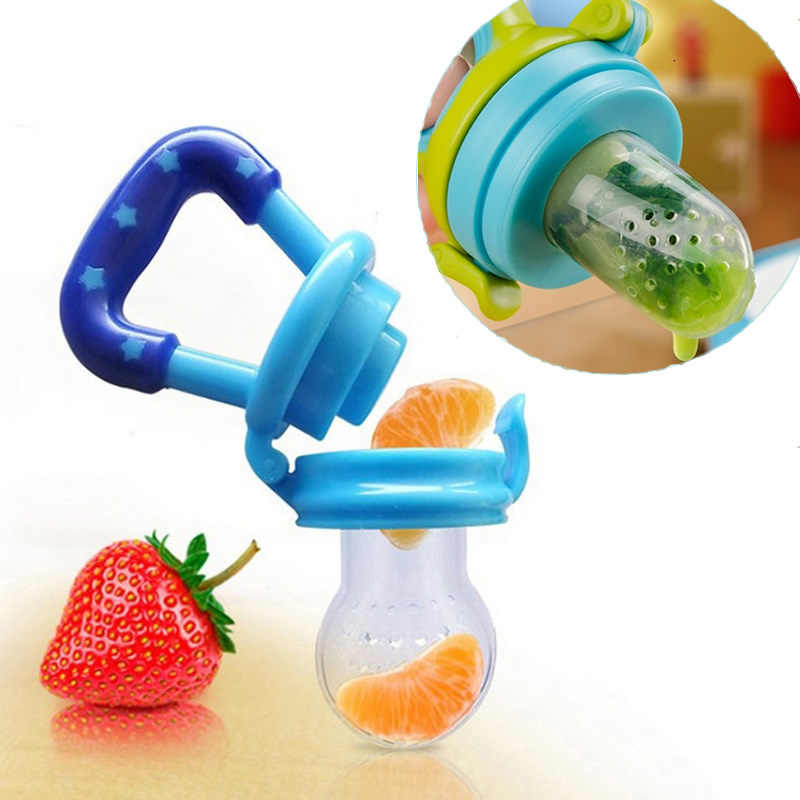 Newborn Food Supplement Bite Juice Feeder Baby Nimbler Pacifier For Fruit Portable Baby Bottle Feeding Fruit Vegetable Music Pac