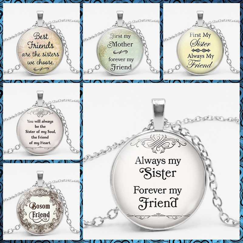 2018 New Choice of Brothers and Sisters Are The Best Friends Friendship Pendant Necklace Pendant Is Your Best Choice image