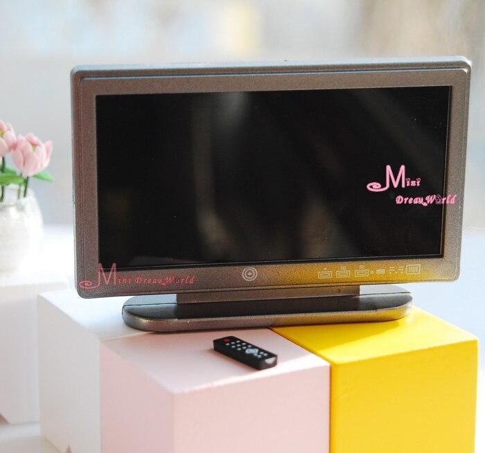 Dollhouse Miniatures Tv: 1/12 Dollhouse Miniature TV Televisionn Remote Controller