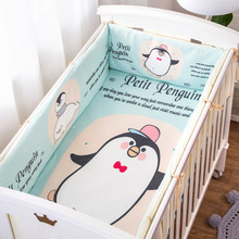 hot deal buy cute cartoon 4 piece set baby bed bumper in the crib cot bumper baby bed protector crib bumper newborns toddler bed bedding set