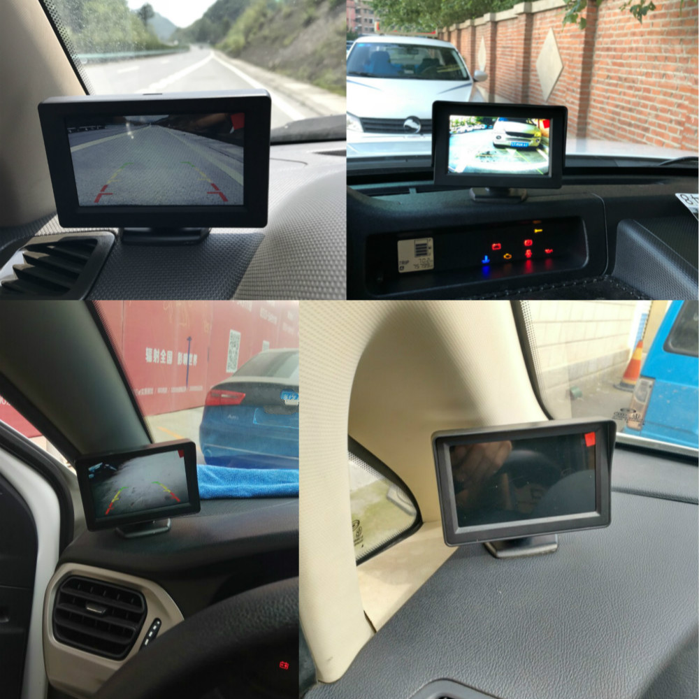 ER SCHAFFEN TFT LCD Display Auto Monitor Spiegel 4,3