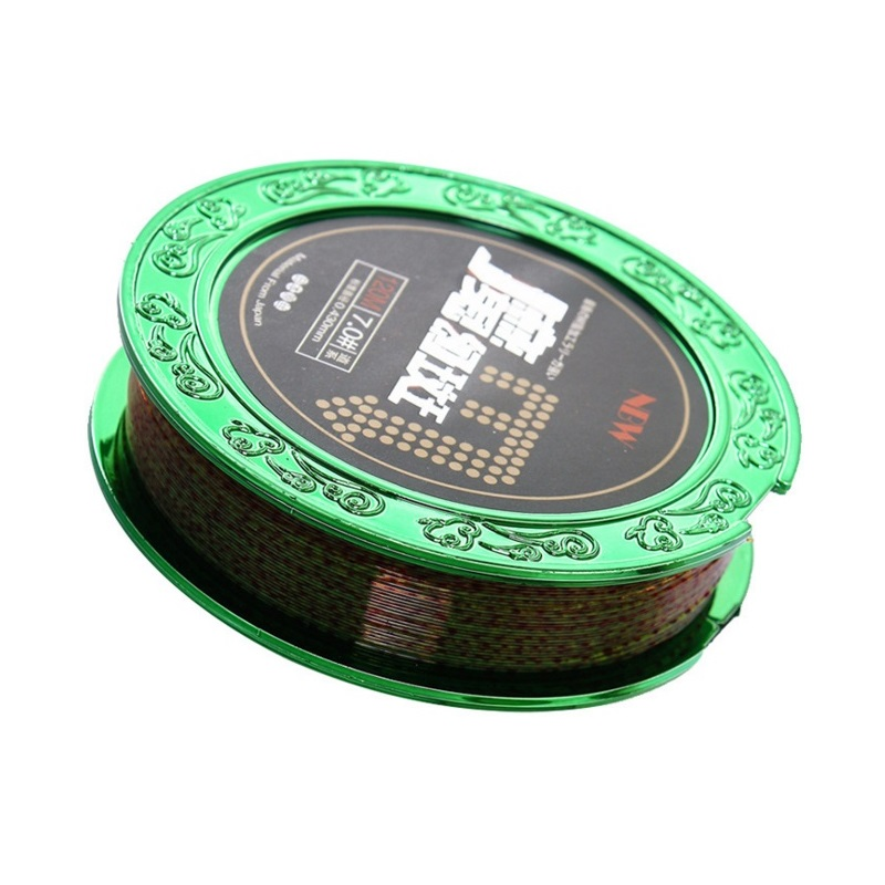 120 meters Nylon fishing line with speckle color so fish cannot find it in water suitable for smart and big fish in garden so naturally 57 малахит