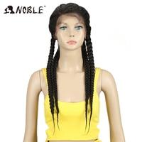 Благородный синтетический парик фронта шнурка 1b # цвет детские волосы 26 африканские американские волосы синтетические кружева передняя Ко