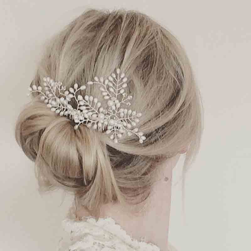 Wedding Hairstyles With Hair Jewelry: KMVEXO Simulated Pearl Bridal Wedding Hair Accessories