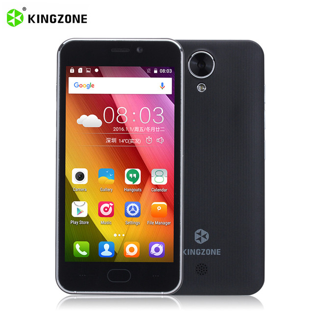 Original Kingzone S2 Android 6.0 4.5inch Smartphone MTK6580 Quad Core Dual SIM 5MP Camera WCDMA 1G RAM 8G ROM 2300mAh Cell Phone