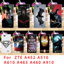 Taoyunxi Мягкие TPU Телефонные Чехлы для ZTE лезвие A452 A510 A610 A465 L4 A460 A910 V6 Макс 510 Q519T BA610 супермен назад coverss кожи