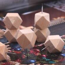 10 шт./упак. дерево японский креативный декоративный Рисунок пробковая доска булавки броши Pushpin японские прикроватные столы миниатюрные ногти