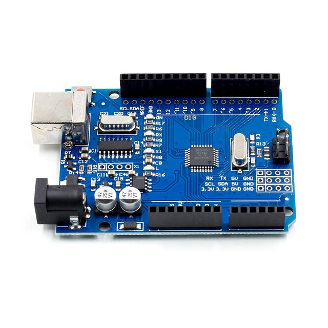 high quality One set UNO R3 CH340G+MEGA328P Chip 16Mhz For Arduino UNO R3 Development board + USB CABLE 3