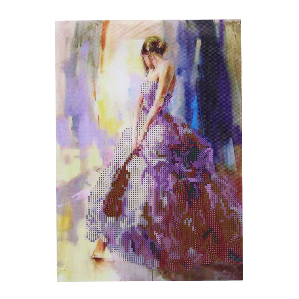 2017 Special Gift Abstract Beauty 5D Diamond Painting New Magic Round Diamond Cross Stitch Kit Living Room Decoration 30 * 40cm