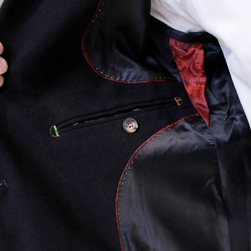 De Gratuite Hommes Haute A147 Livraison 1637 Breasted Qualité Robe 2016 Double Black Pantalon Hommes Blazer Mariée Costumes Noir vestes Casual SwExqxaFf