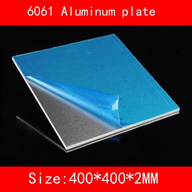 Vaak 6061 # Aluminium plaat 400*400*2mm (3mm, 4mm, 5mm dikte) in 6061 BT47
