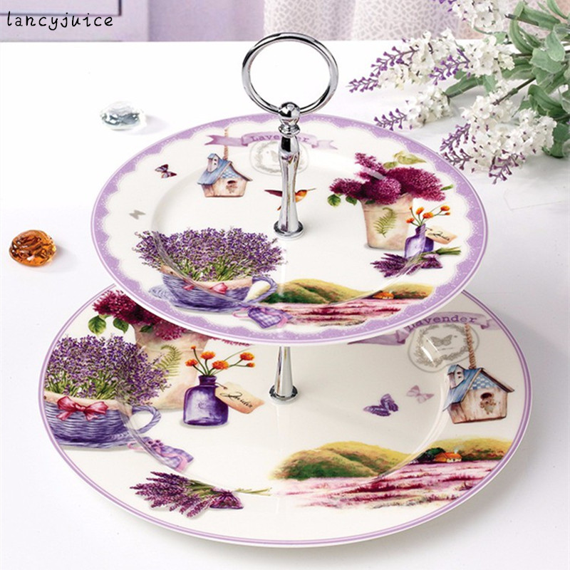 European Double layer Porcelain Fruit Plate Display Stand Cake Snack Tray Table Pastry Dishes Plates-in Dishes \u0026 Plates from Home \u0026 Garden on Aliexpress.com ...  sc 1 st  AliExpress.com & European Double layer Porcelain Fruit Plate Display Stand Cake Snack ...