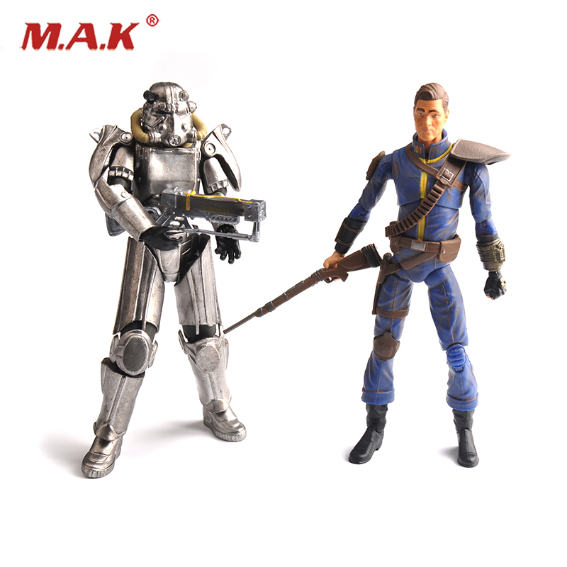 Fallout 4 PVC Action figure 8 inches Power Armor Out of clothing Toys for Collections фигурка planet of the apes action figure classic gorilla soldier 2 pack 18 см