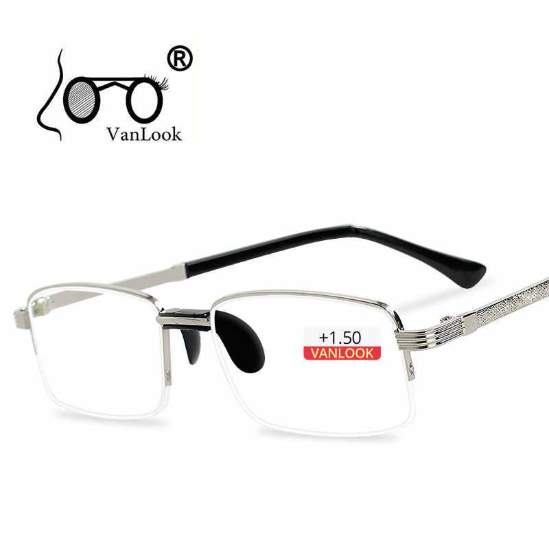 66b949e6ef Men s Reading Glasses For Sight Computer Lens Spectacles Gafas Lectura  Retro Optical Eyeglass Frame +1.0