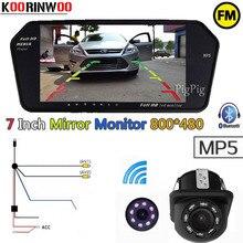 Koorinwoo Adottante Parcheggio 2.4G Wireless Car rear view camera Car monitor 1024*600 bluetooth FM MP3/MP4/MP5 Display Digital Video