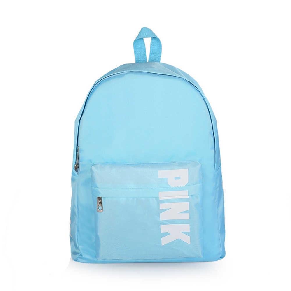 Yeni aşk pembe Genç Kız omuzdan askili çanta Çuval Yaz Tatil Plaj mektup çanta pembe okul çantası Tote sırt çantası mochila escolar