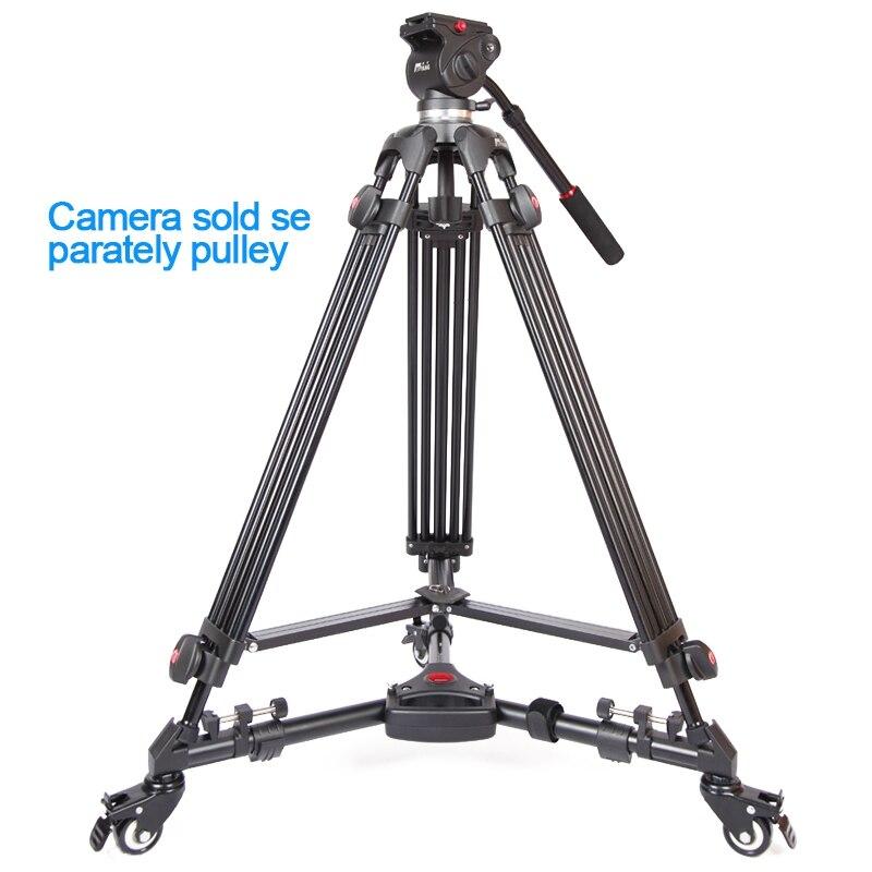 JIEYANG JY0508 JY-0508 JY0508B Professionnel trépied de caméra trépied vidéo/Dslr Trépied Tête Fluide D'amortissement vidéo avec sac pour trépied - 2