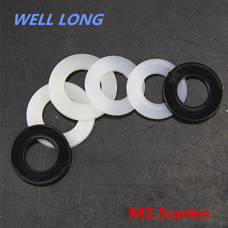 500pcs/lot Nylon Screw Gasket Insulation Plastic Flat Pad Plastic Washer,M2.5.500pcs/lot Nylon Screw Gasket Insulation Plastic Flat Pad Plastic Washer,M2.5.