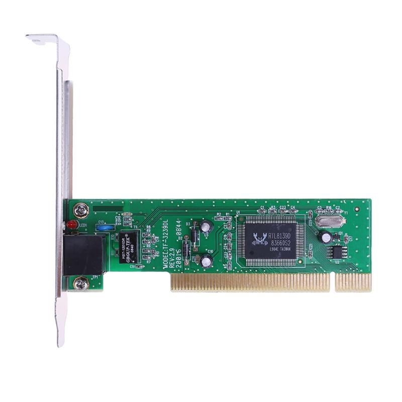 10/100Mbps Adaptive RJ45 PCI Wired Network LAN Adapter Card Networking Cards for Desktop PC High Quality