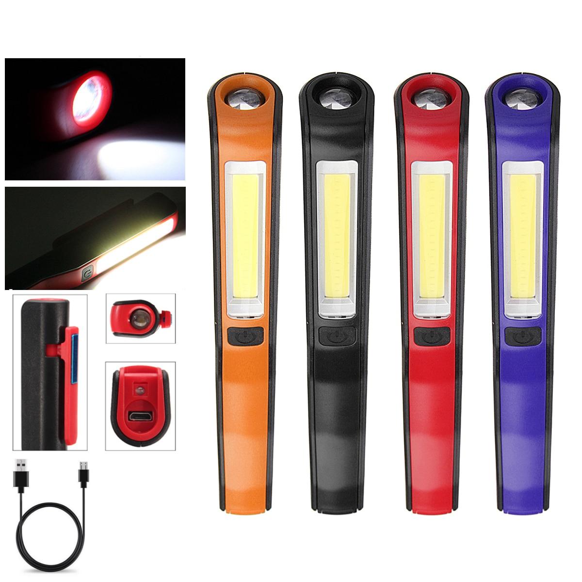 Nett Led Cob Wiederaufladbare Magnetische Taschenlampe Inspektion Lampe Arbeit Licht Notfall Lampe Für Outdoor Camping Angeln Tragbare Laternen