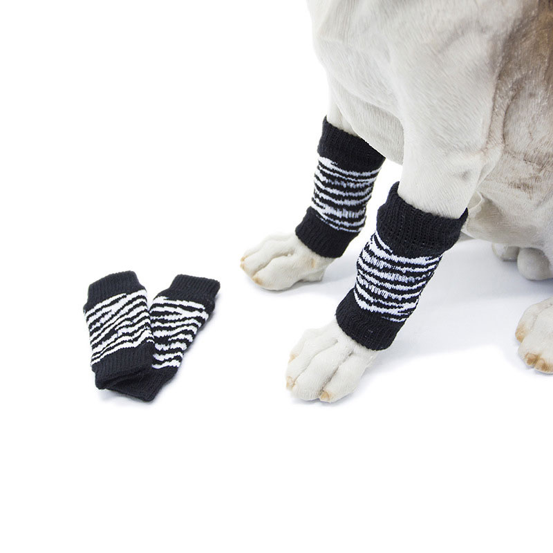 4 Stks/set Leuke Herfst Winter Hond Been Warmer Sokken Gedrukt Leopard Dots Antislip Beenwarmers Drop Shipping