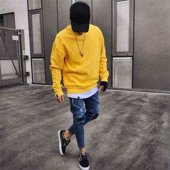 Moto Biker Frayed Denim Pants Men Stylish Ripped Skinny Slim Straight Jeans cotton Trousers Fashion skinny jeans men Clothes фото