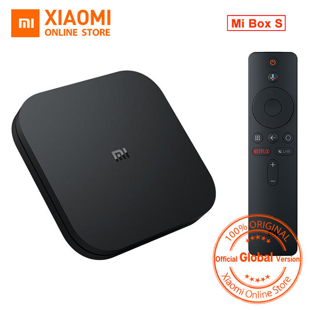 US $66 85 15% OFF|Global Version Xiaomi Mi TV BOX S Smart 4K Ultra HD 2G 8G  Android 8 1 WIFI Google Cast Netflix Media Player IPTV Set top Box-in