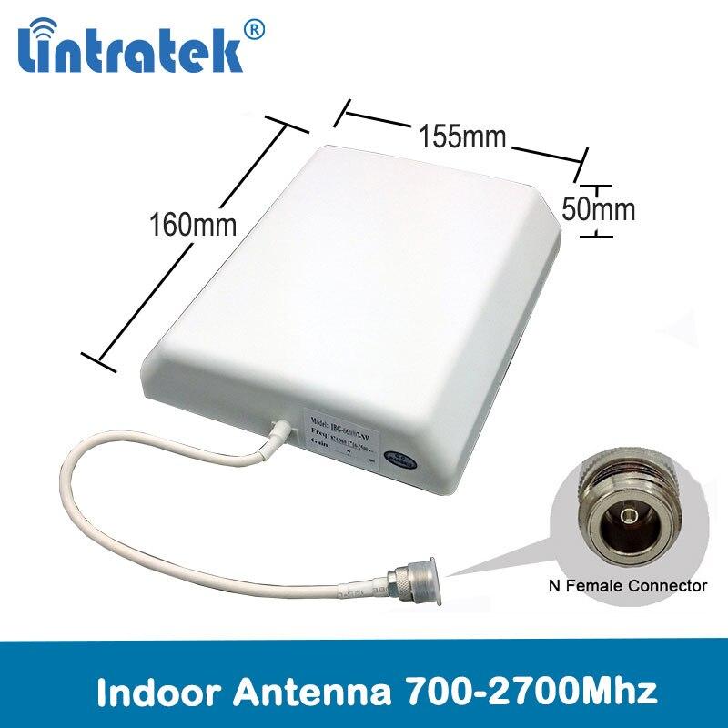 Antena exterior interna 700-2700 mhz 4g da antena do painel interno de lintratek 2g 3g 4g lte para o repetidor do impulsionador do siganl do telefone celular
